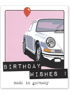 Postkarte Birthday Wishes - Made in Germany